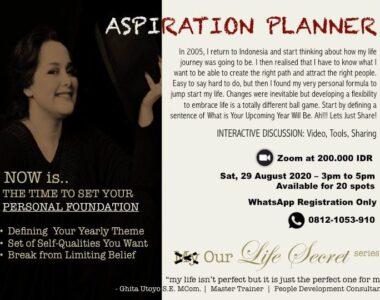 Aspiration Planner, by Ghita Utoyo (Alumni '92)